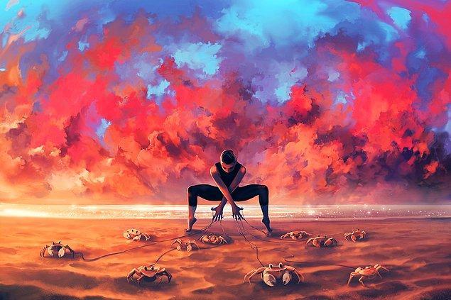10. İnsan ruhundaki ışığı ve gölgeyi doğanın tüm renkleriyle yansıtmayı sevdiğini belirtiyor.