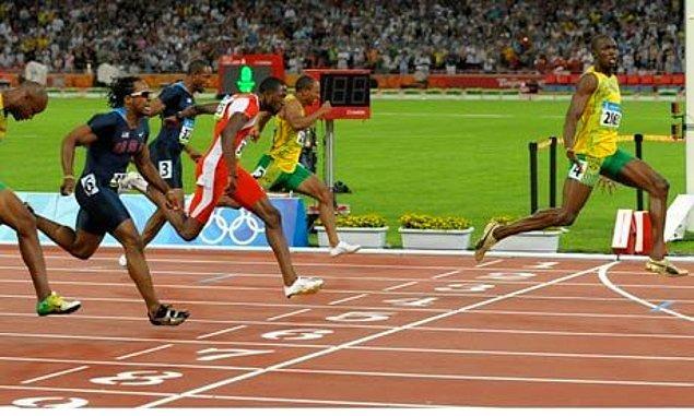 1. Usain Bolt'un Tarih Sahnesine Adım Atması