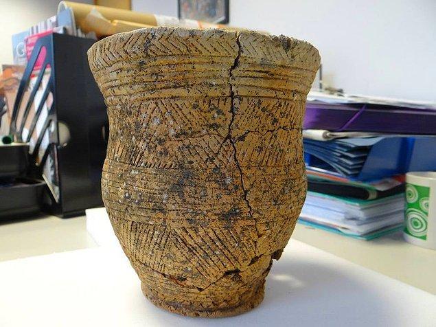 Çanak çömlek yapımıyla tanınan Beaker kültürünün bir mensubu olan Ava, bu çömlekle gömülü olarak bulunmuş.