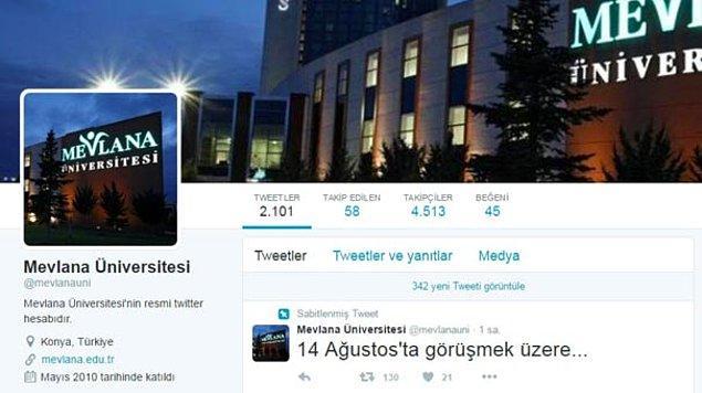 10 Ağustos tarihinde ise, Mevlana Üniversitesi'nin twitter hesabından '14 Ağustos'ta görüşmek üzere' tweetlerini attığı iddia edilen 6 kişi tutuklandı.