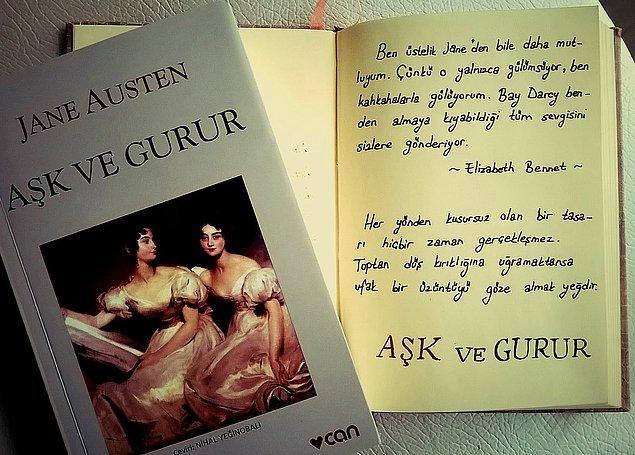"""8. """"Aşk ve Gurur"""", (1813) Jane Austen"""