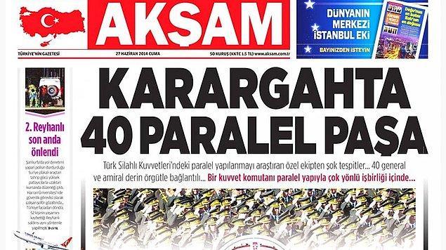'Karargâh'ta 40 paralel paşa' manşeti