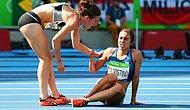5000 Metre Koşusunda Yere Düşen Atletlerden Olimpiyat Ruhunu Yansıtan Görüntüler