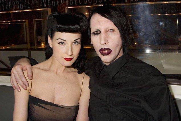 11. İdeal çiftimiz Marilyn Manson ve Dita Von Teese'ydi.