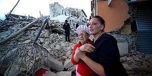 6.2 Büyüklüğünde Deprem ile Sarsılan İtalya'dan Tahribatı Gözler Önüne Seren Görüntüler