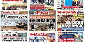 Gazetelerde Bugün   'Fırat Kalkanı' Harekâtı Manşetlerde...