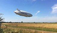 Dünyanın En Büyük Hava Aracı 'Airlander 10' İkinci Testinde Burnu Yere Çarptı