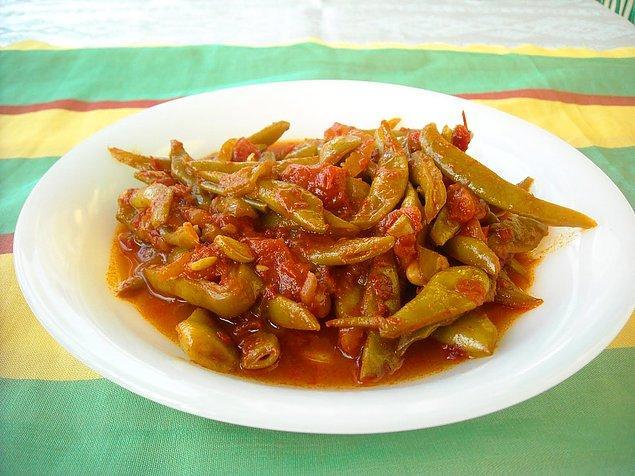 7. Anne mutfağındaki en güzel yiyeceklerden biri: Taze Fasulye