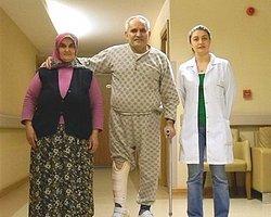 2.Fizik tedavi sonrası karın kaslarıyla yürüdü!