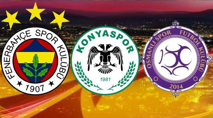 Avrupa Ligi'nde Konyaspor, Osmanlıspor ve Fenerbahçe'nin Rakipleri Belli Oldu