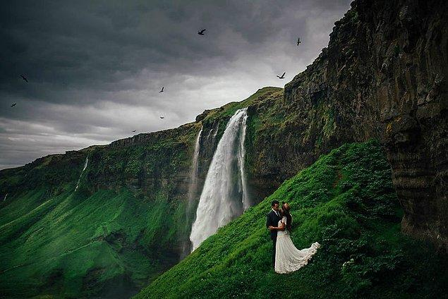 14. Seljalandsfoss, İzlanda
