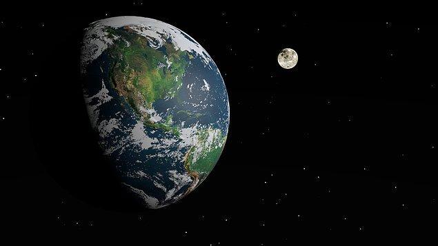 13. Ay'ın Dünya'ya çok yakın olduğunu düşünürüz; ancak bu çok doğru bir bilgi değildir. Ay, Dünyadan 384 bin kilometre kadar uzaktadır ve eğer bir Boeing 747'ye atlayıp son hızda Ay'a seyahat etme imkânı bulunsaydı, yolculuğunuz 17 gün sürerdi.