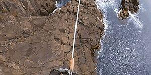 32 Metre Yükseklikte Korkusuzca Slackline Yapan Adam