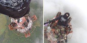 350 Metrelik Kuleye Çıkarak Bulutlarla Selfie Çekilen Adrenalin Bağımlısı Adam