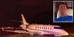 Cristiano Ronaldo'nun 15 Milyon Pound'luk Uçağı İniş Sırasında Kaza Yaptı