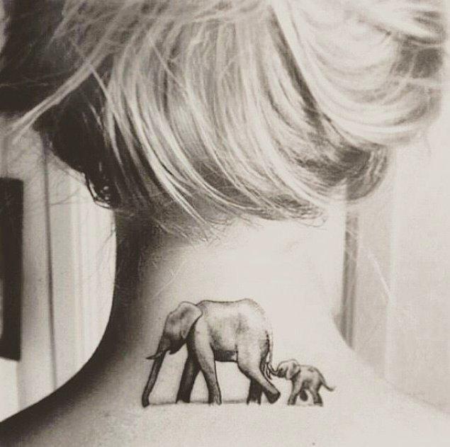 4.Peki ya bu asil anne ve yavru fil