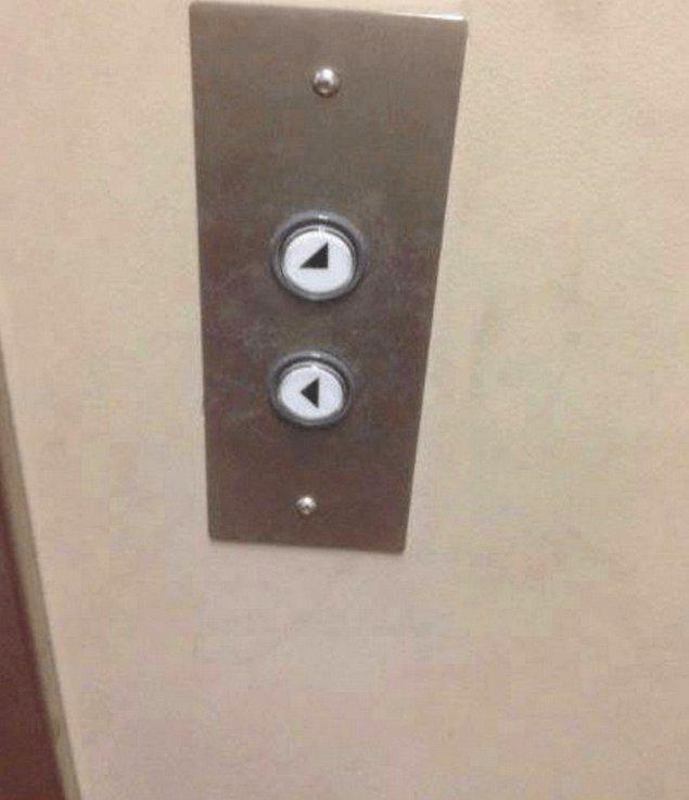 15. Bu asansör ancak sola ve sağ aşağı çapraza gider