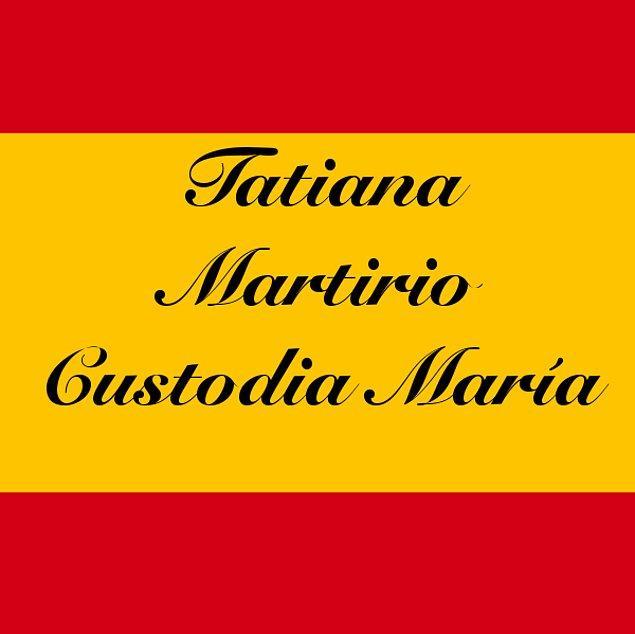 Tatiana Martirio Custodia María!