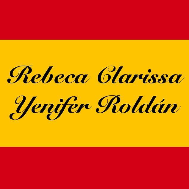 Rebeca Clarissa Yenifer Roldán!