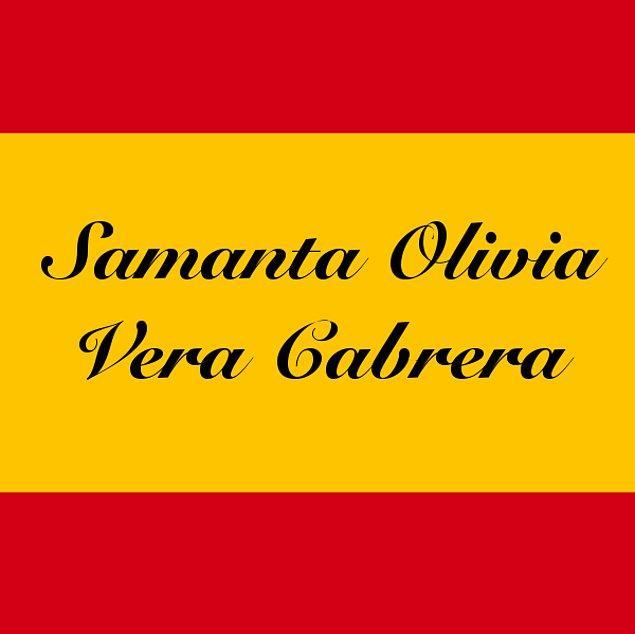 Samanta Olivia Vera Cabrera!