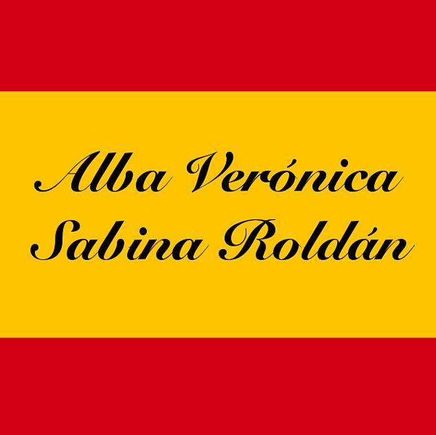 Alba Verónica Sabina Roldán!