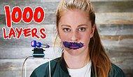 Robot Yardımıyla Dudağına 1000 Kat Ruj Süren Bir Acayip Kadın