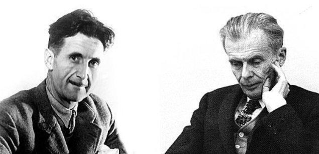 14. 1984'ü yayınladıktan sonra George Orwell lisedeki Fransızca öğretmeni Aldous Huxley'e bir kopyasını göndermiştir.