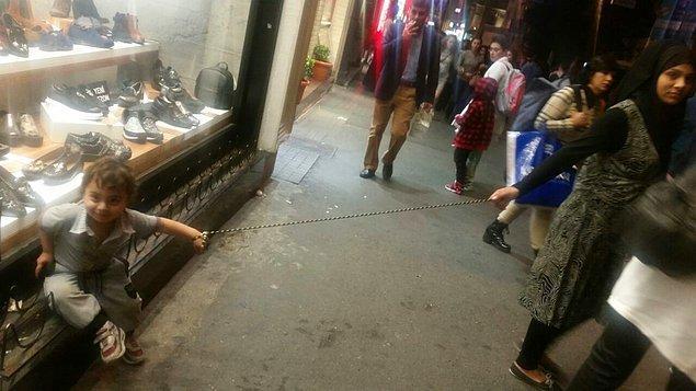 Bu görüntüler Taksim'de amatör bir kamera tarafından kaydedildi