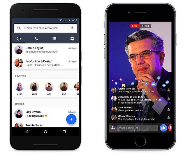 Facebook ile Facebook Workplace arasındaki başka bir önemli farklılık ise, Facebook Workplace'ün SaaS araç tedarik şirketleri ile uyumlu çalışacağı.