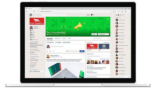 En önemli farklılık, Facebook Workplace'te yalnızca işletme çalışanlarının olması...