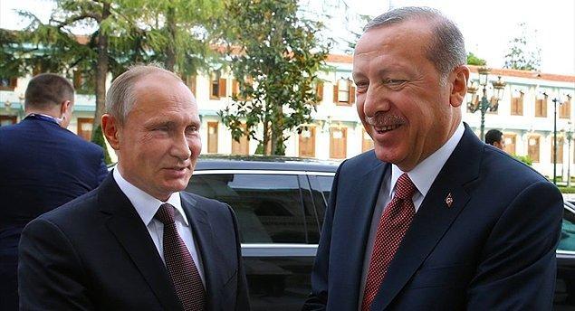 Rusya lideri Putin, uçak krizinden sonra ilk kez 10 Ekim'de Türkiye'ye gelmişti.