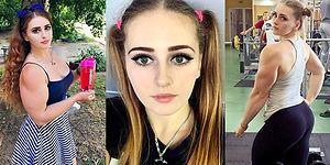 Boynundan Yukarısı Barbie Aşağısı Vücut Geliştirme Şampiyonu Rus Kızımız