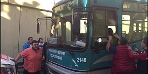 Rahatlığın da Bu Kadarı Pes! Kapıyı Kilitleyip Uyuyan Halk Otobüsü Şoförü