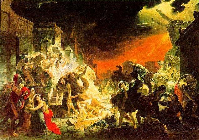 "3. ""The Last Day of Pompeii"", (Pompei'nin Son Günü) Karl Bryullov"