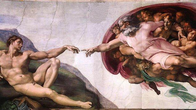 """5. """"The Creation of Adam"""", (Adem'in Yaratılışı), Michelangelo"""