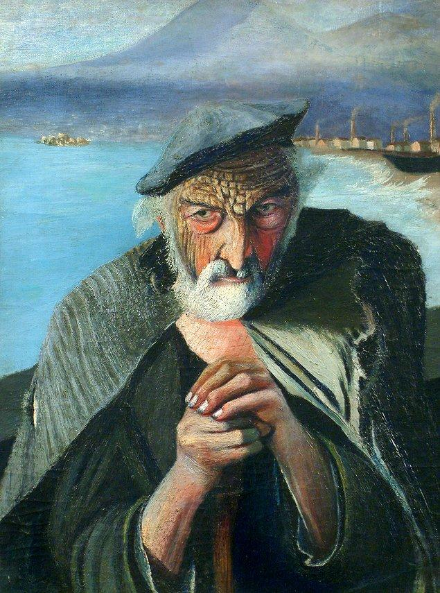 """7. """"Old Fisherman"""", (Yaşlı Balıkçı) Tivadar Csontváry Kosztka"""