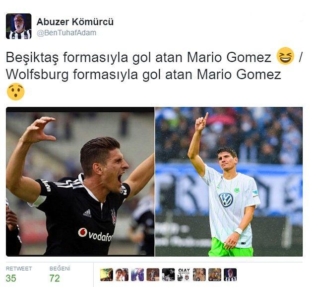 Beşiktaş taraftarı da Gomez'i unutmadı;