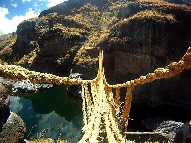 16. İnka Halat Köprüleri - Peru