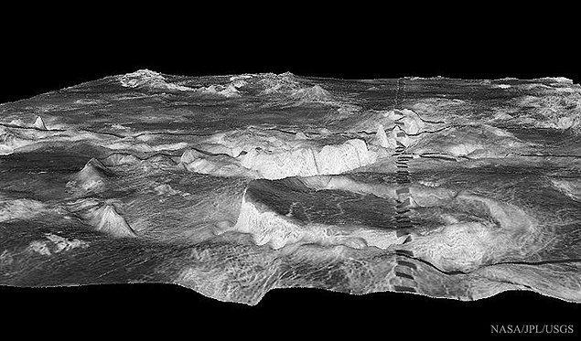 15. Venüs'ün Üstündeki Silindirik Dağlar
