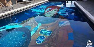 Yüzme Havuzunun Zeminini Dev David Bowie Portresiyle Kaplayan Sıra Dışı Sanatçı