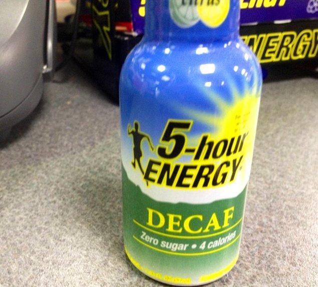 5. Kafein içermeyip 5 saatlik enerji veren içecek.