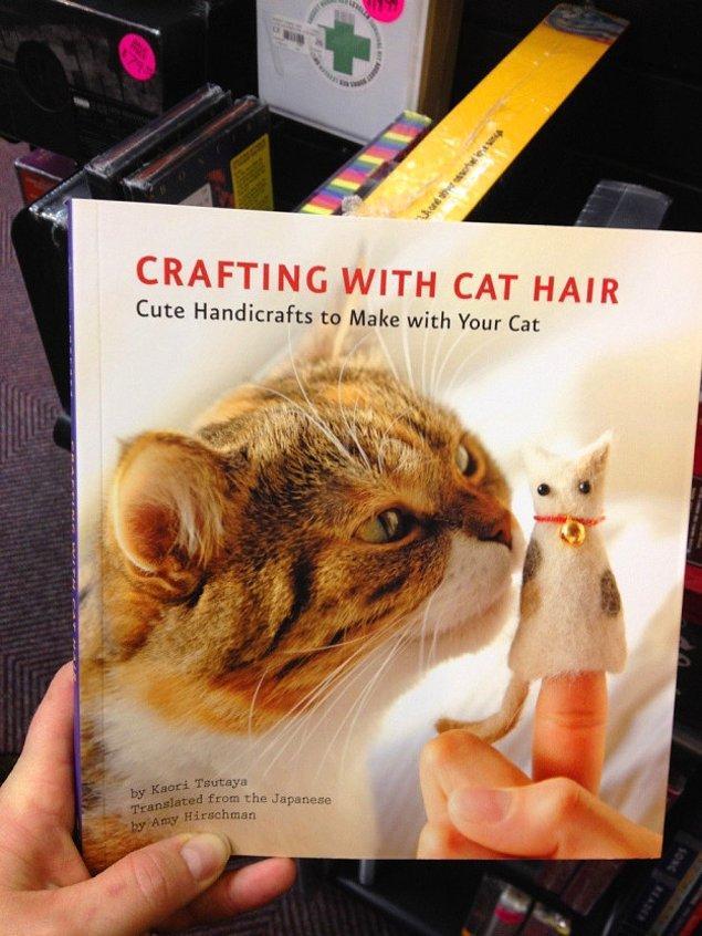 11. Kedinizin tüylerinden neler yapabileceğinizi anlatan el işi kitabı.