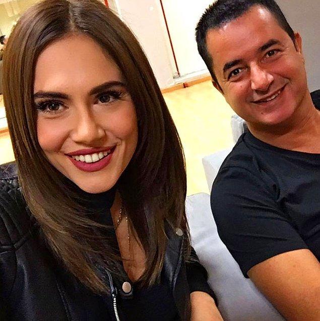 Çekimden sonra yarışma jürilerinden Şükran Ovalı'ya benzerliği ile şaşırtan Elena Tsagkrinou, Acun ile birlikte çektiği bir fotoğrafını sosyal medya hesabından paylaştı.