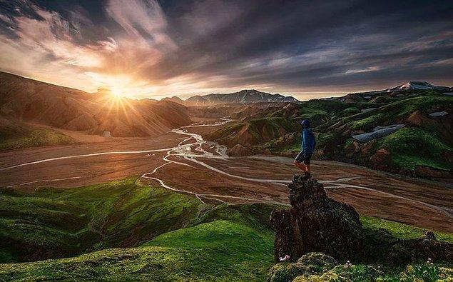 25. Landmannalaugar, İzlanda
