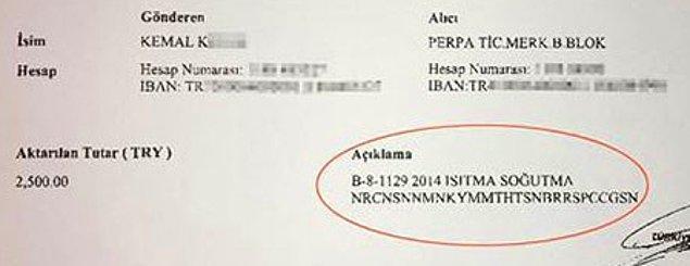 "Şifre aynen şöyle : """"B-8 1129 2014 ISITMA SOĞUTMA NRCNSNNMNKYMMTHTSNBRRSPCCĞSN"""