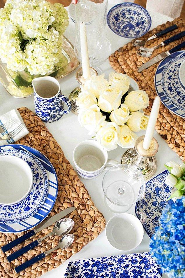 11. Masaya yerleştirilen ekipmanlar mutlaka yemeklerle uyumlu olmalıdır.