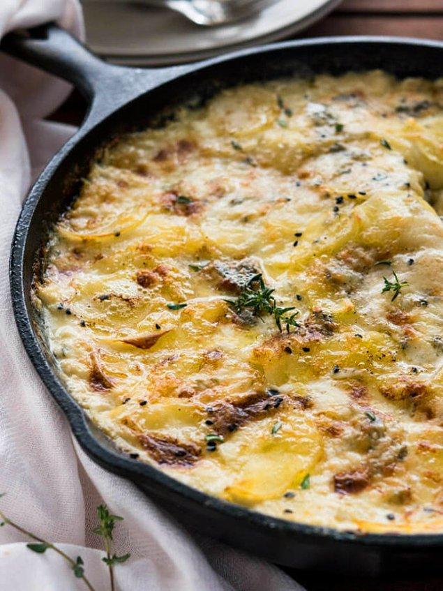 5. Fırında kremalı patatese hayır diyemeyeciğinize eminiz.