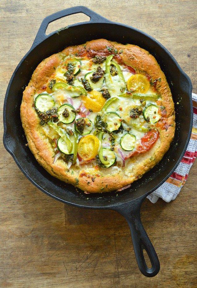 1. Sağlıklı bir pizza ile kapıları açıyoruz.