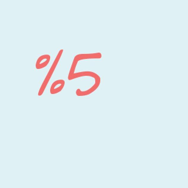 Yüzde 5!
