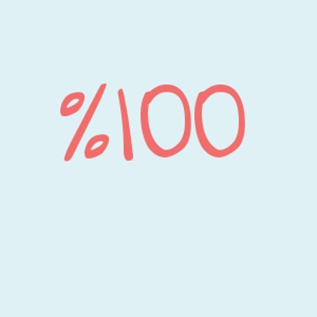Yüzde 100!